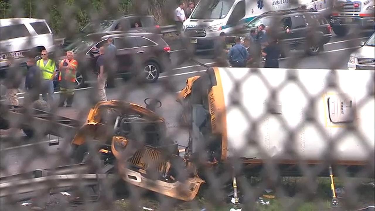 School bus taking kids on field trip collides with truck