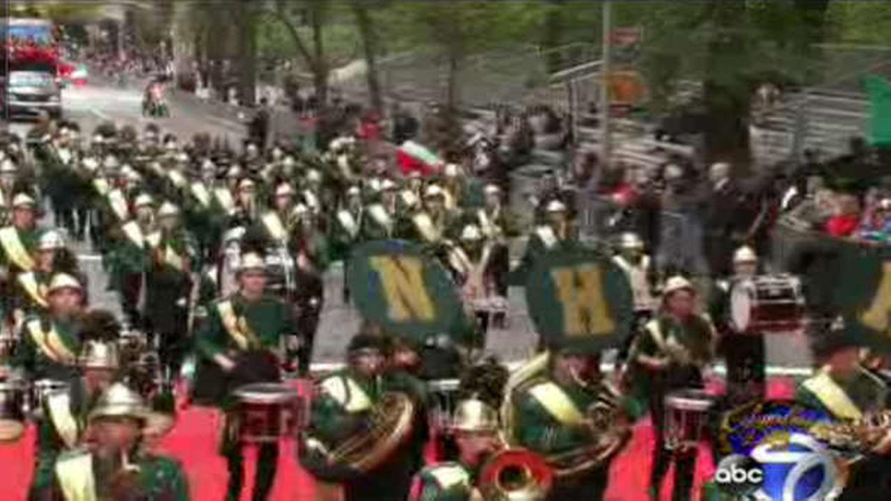 New York City marks Columbus Day Monday with the 70th annual Columbus Day Parade up Fifth Avenue.