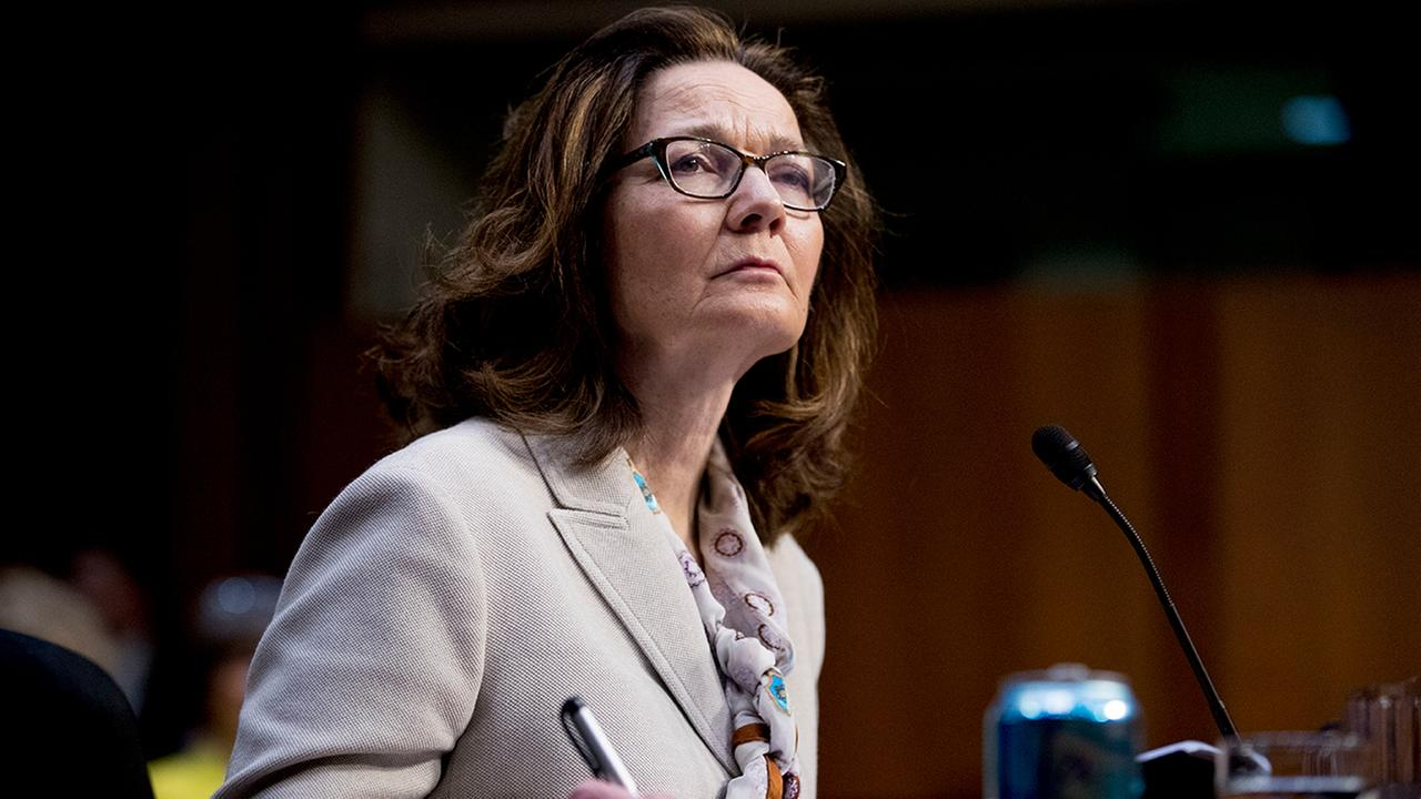 Gina Haspel testifying at her confirmation hearing before the Senate Intelligence Committee, on Capitol Hill, Wednesday, May 9, 2018, in Washington. (AP Photo/Andrew Harnik)