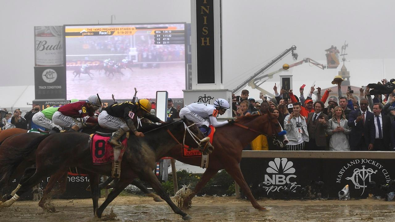 All eyes on Belmont Stakes as Justify takes aim at horse racing's Triple Crown