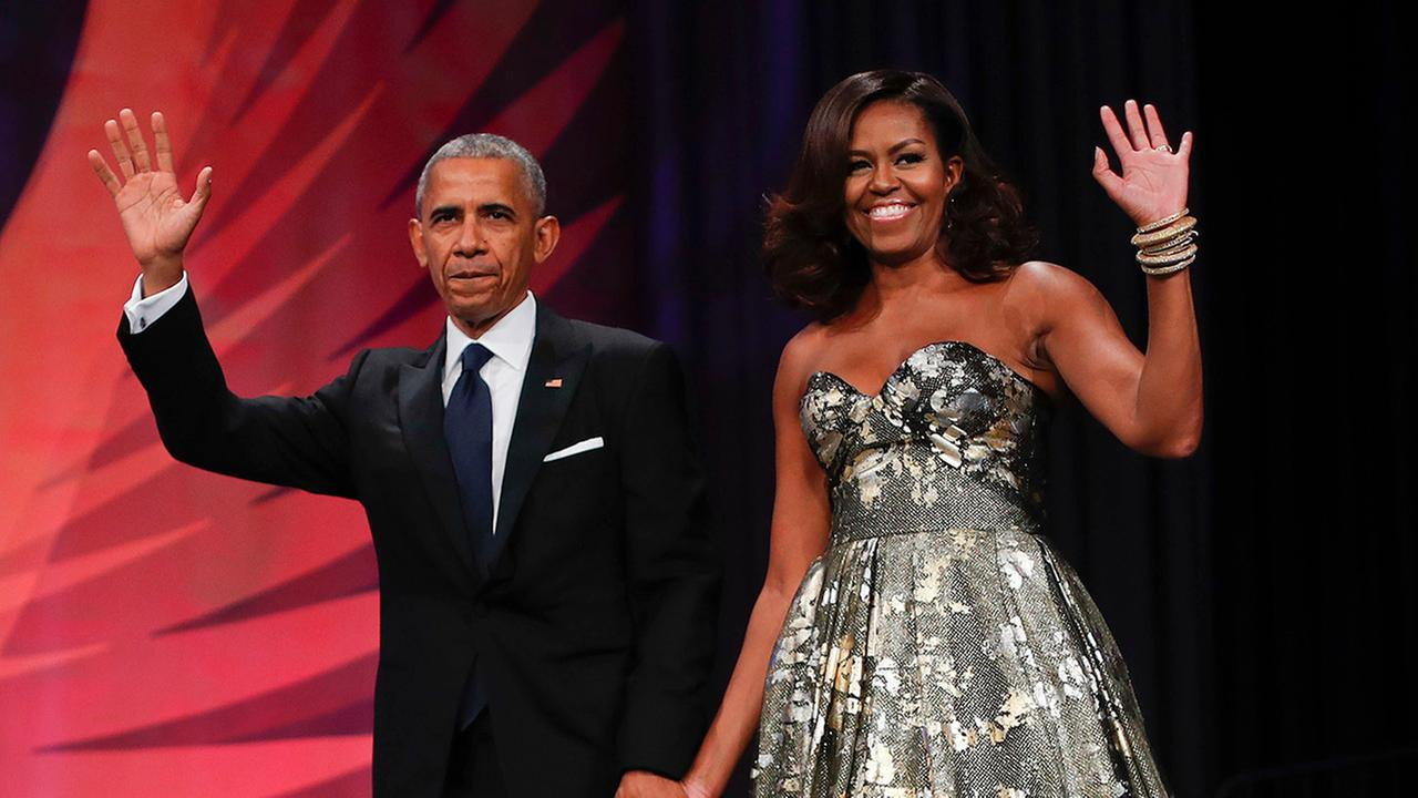 President Barack Obama and first lady Michelle Obama at the Congressional Black Caucus Foundations 46th Annual Legislative Conference Phoenix Awards Dinner..