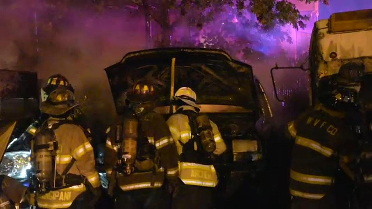 Police in Suffolk County searching for suspect in early morning arson spree