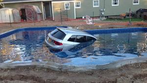 car into pool