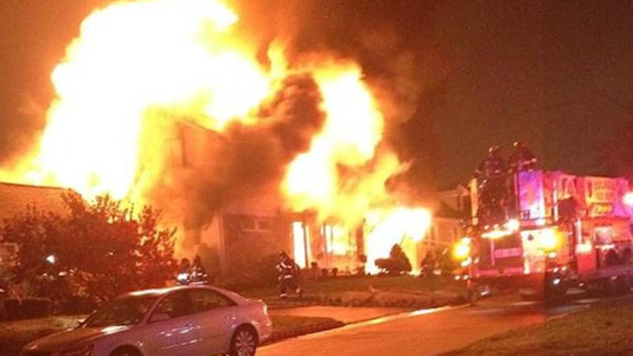 Massive fire burns through Colonia home, kills dog