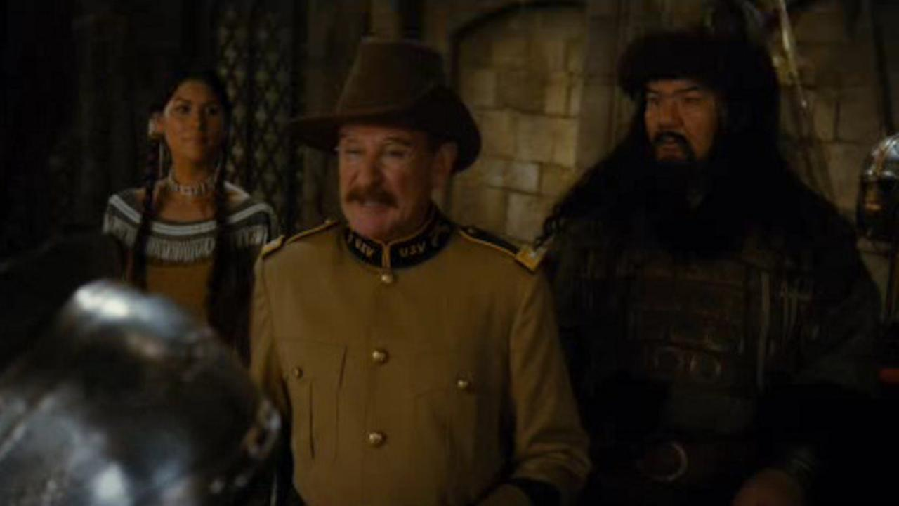robin Williams plays theodore roosevelt in final night at the museummovie