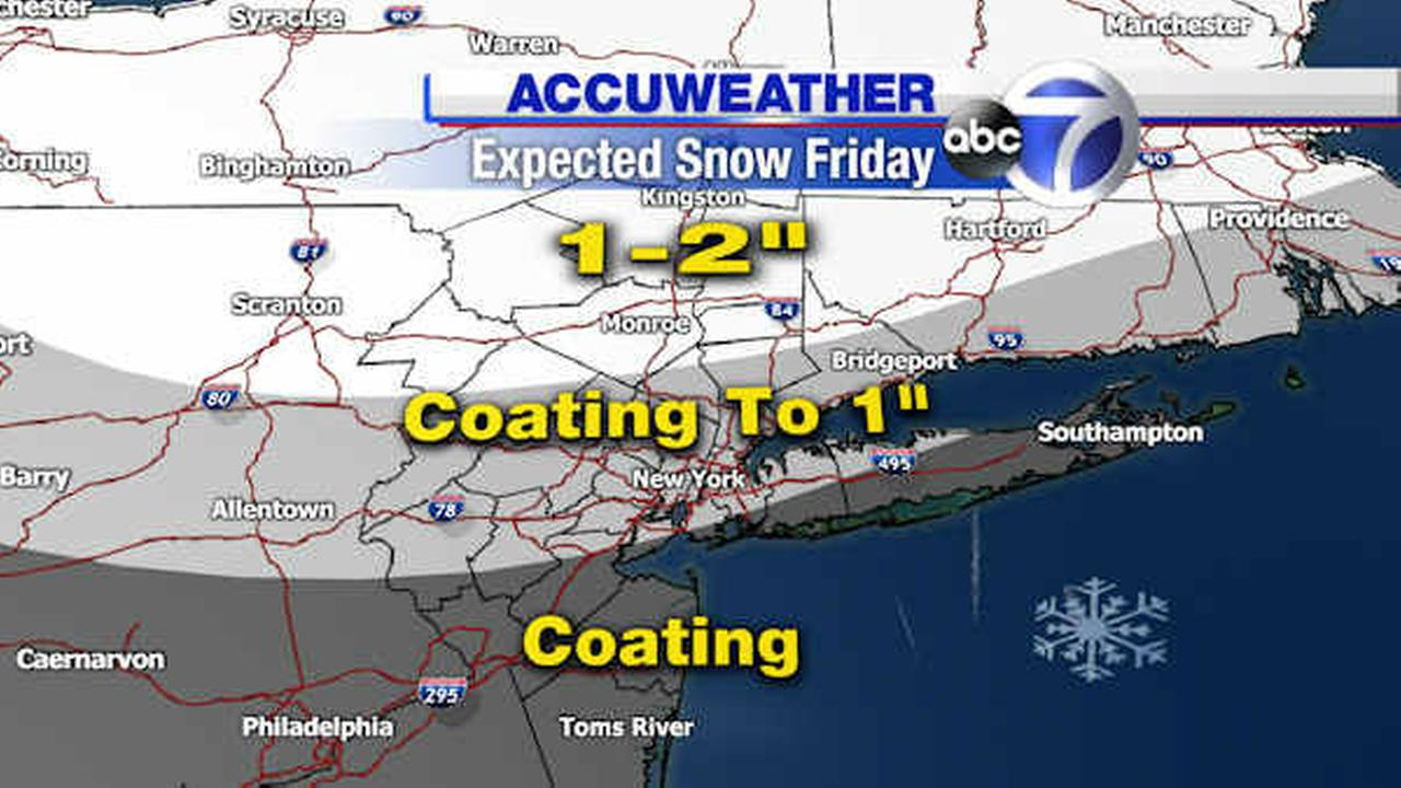 AccuWeather Maps: Possible Friday snow