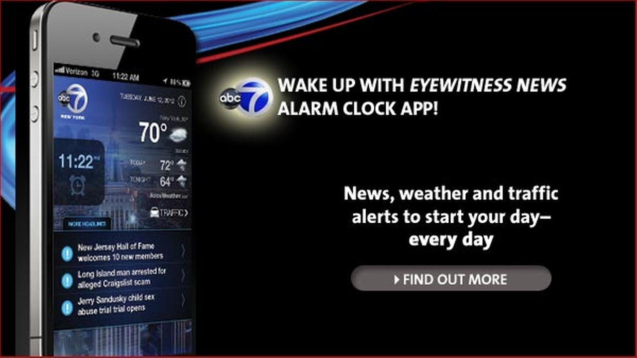 WABC alarm clock app for iPhones and Androids!