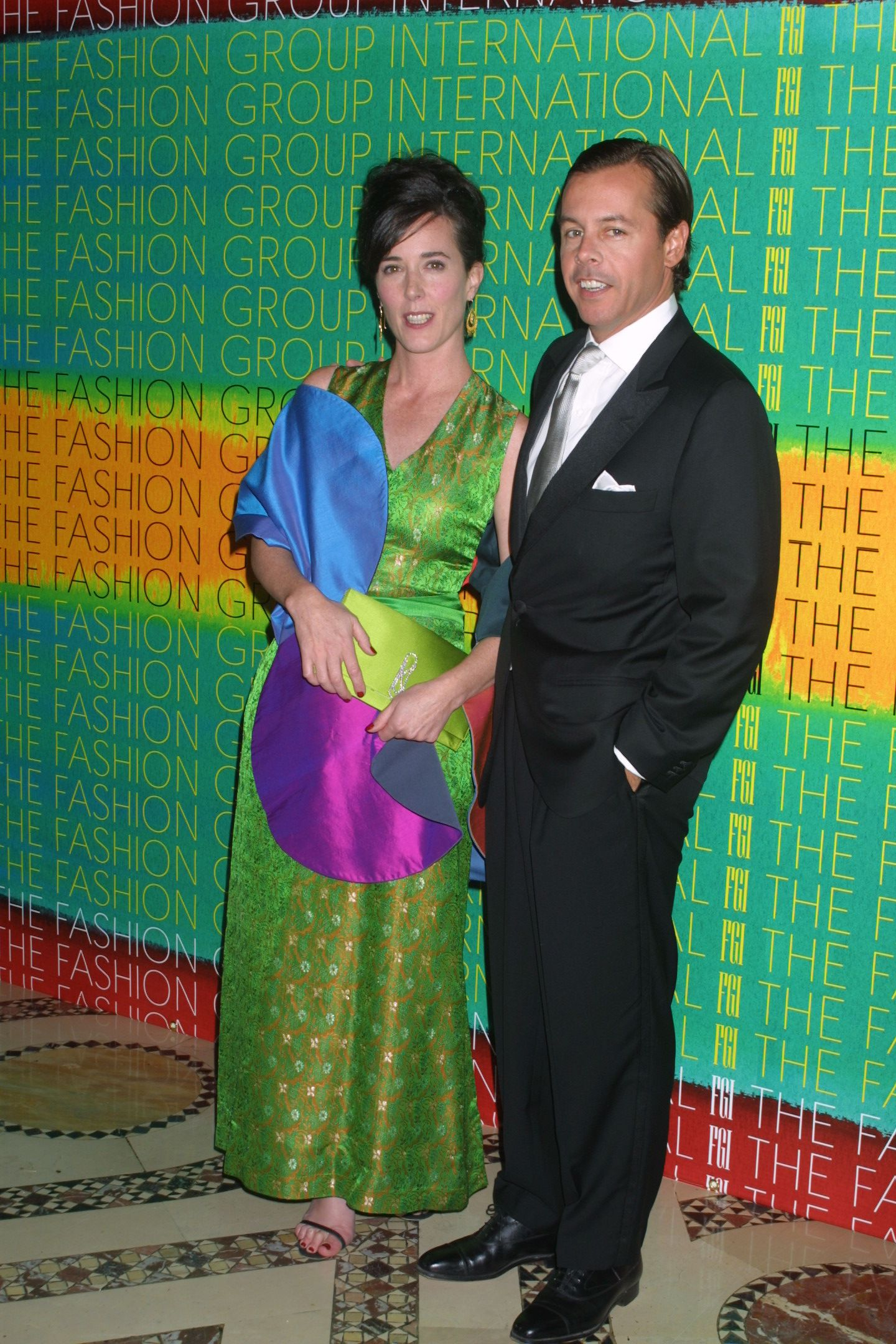 <div class='meta'><div class='origin-logo' data-origin='none'></div><span class='caption-text' data-credit='Matt Baron/BEI/REX/Shutterstock'>Kate Spade and husband at the 18th Annual Night of Stars Fashion Group International Cipriani in 2001.</span></div>