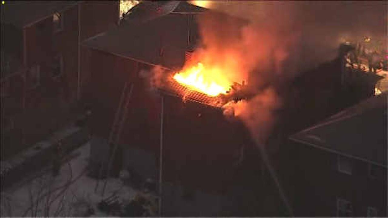 3-alarm fire burns through home in Palisades Park, NJ