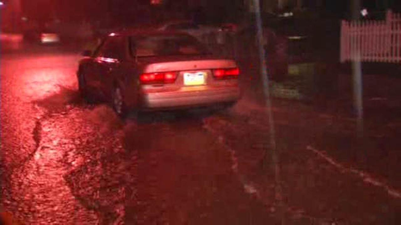 Heavy rain floods streets throughout Tri-State area