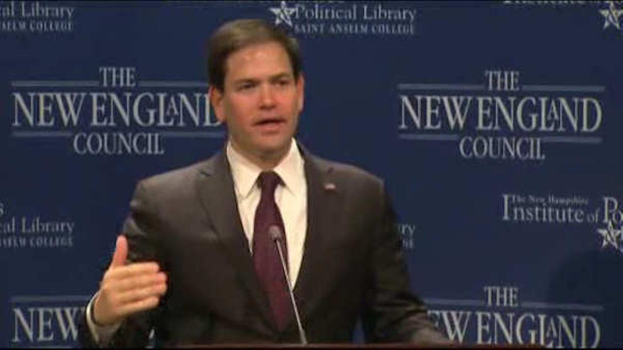 Florida Sen. Marco Rubio tells donors he is running for president