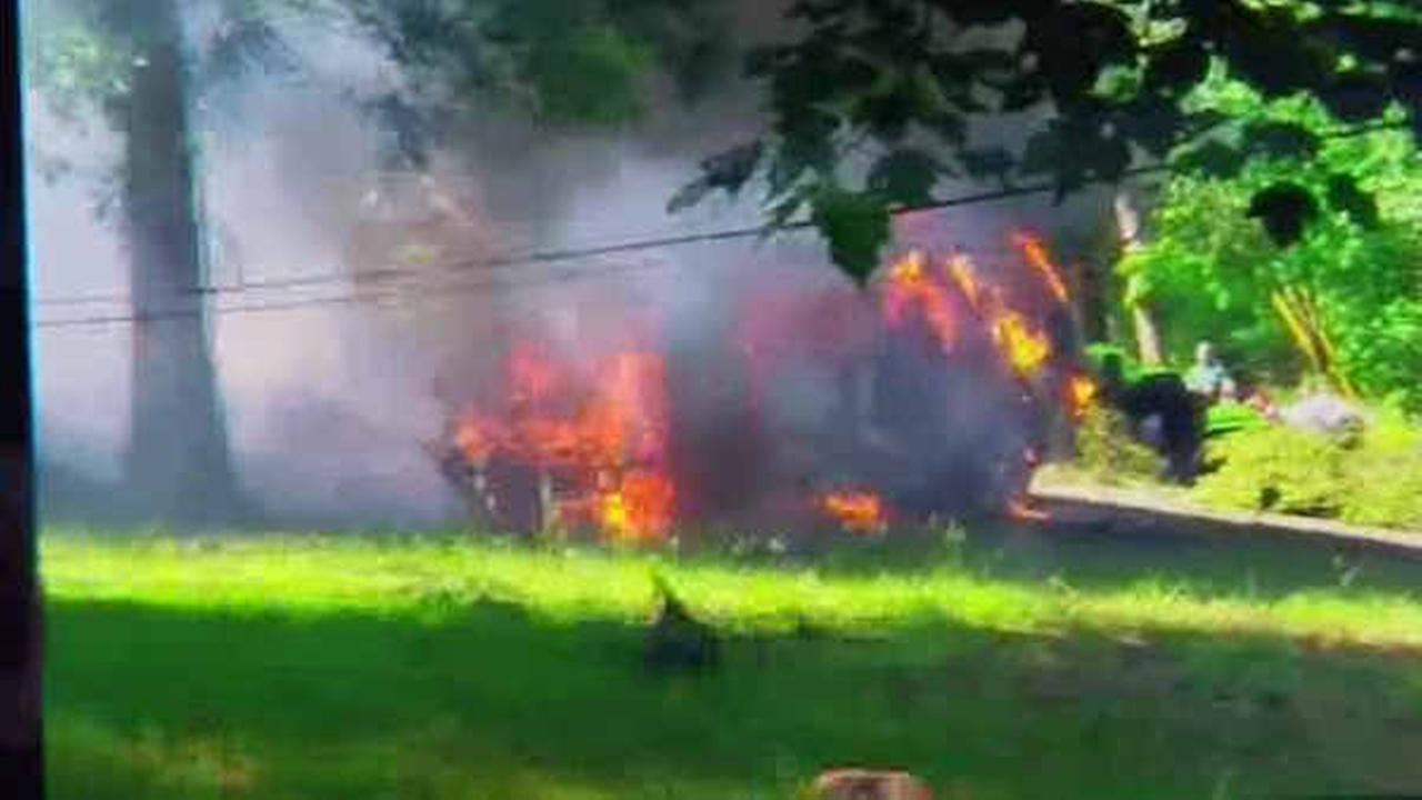 Man survives crash after Good Samaritan helps him from burning vehicle