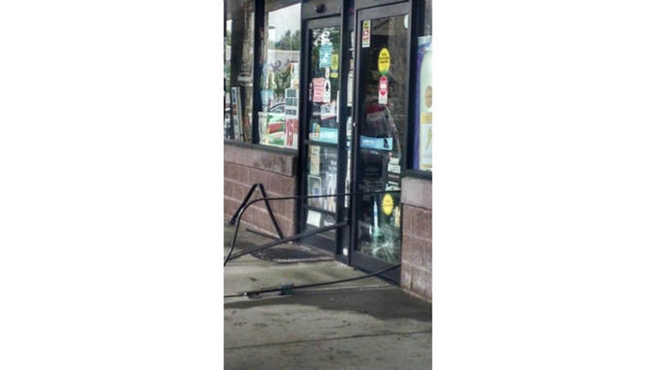 PHOTOS: Car crashes into wall at strip mall in South BrunswickWABC