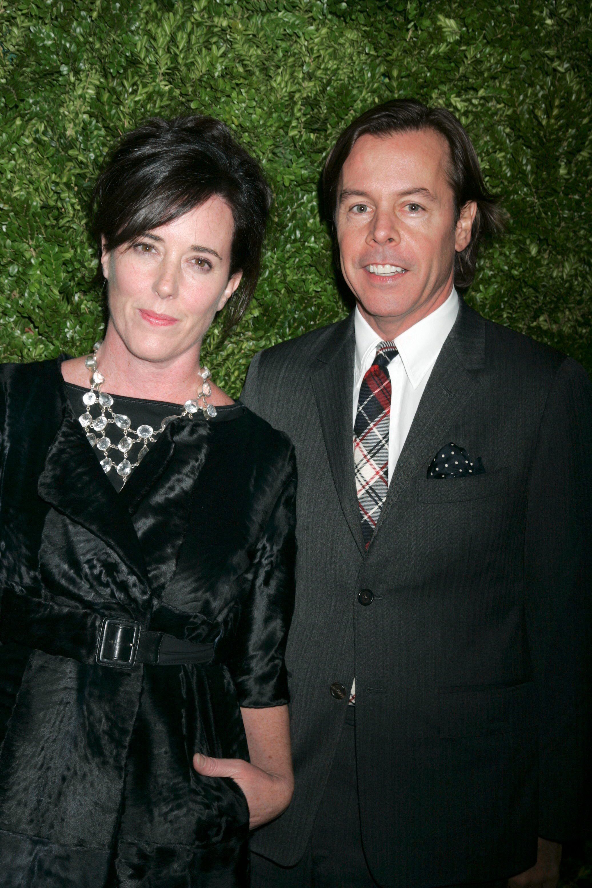 <div class='meta'><div class='origin-logo' data-origin='none'></div><span class='caption-text' data-credit='Gregory Pace/BEI/REX/Shutterstock'>Kate Spade and Andy Spade at the CFDA/Vogue Fashion Fund in New York in 2008</span></div>
