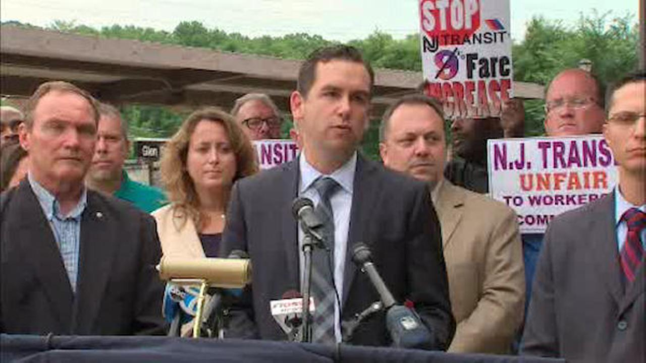 Rally held against proposed NJ Transit fare hikes