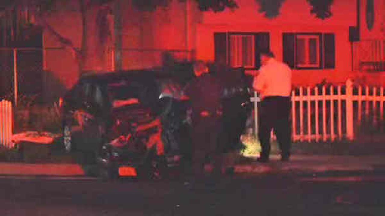 hauppauge police car crash
