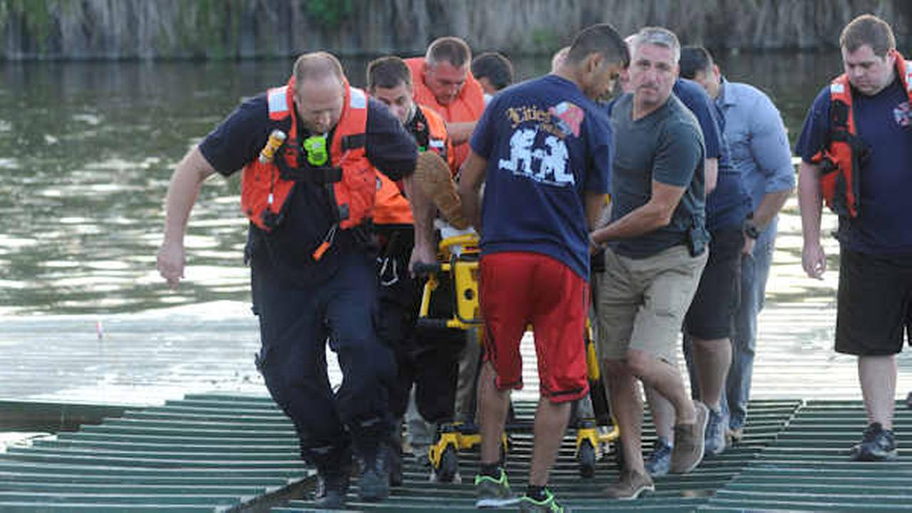 Motorcyclist survives crash, 50-foot fall into Passaic River