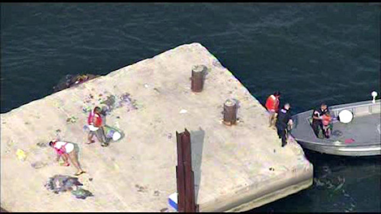 Four people rescued from Perth Amboy pier