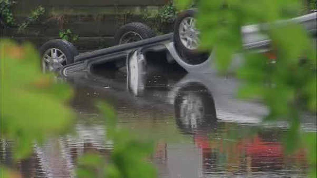 Elderly woman suffers medical condition, drives into Rahway River