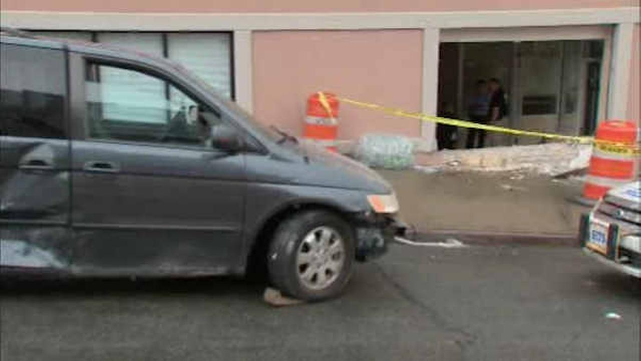 4 hurt, daycare evacuated when car slams into building in Queens