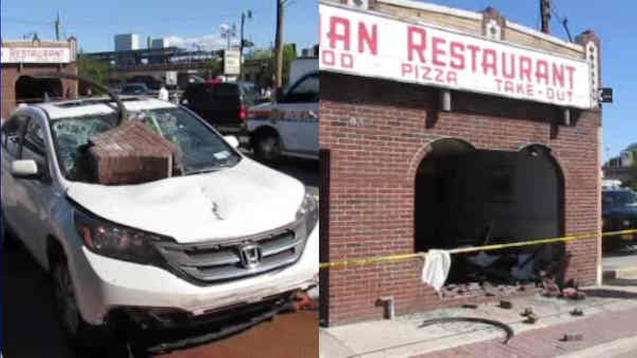 Out Of Control Car Crashes Through Front Of Pizzeria In