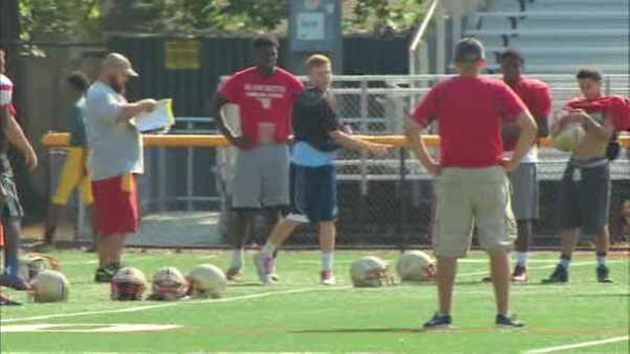 Stratford football coach suspended 2 games after having players crawl on scorching turf