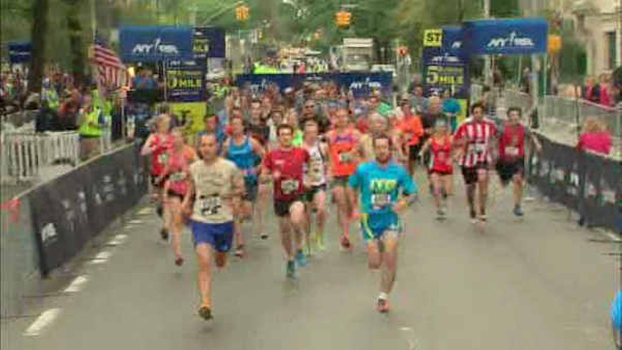 Runners hit the streets for the annual Fifth Avenue Mile in Manhattan