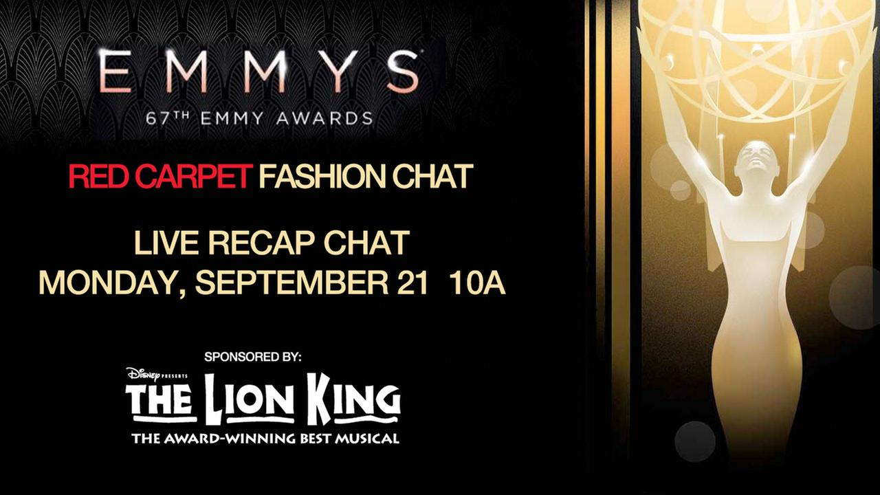 emmy award red carpet fashion chat