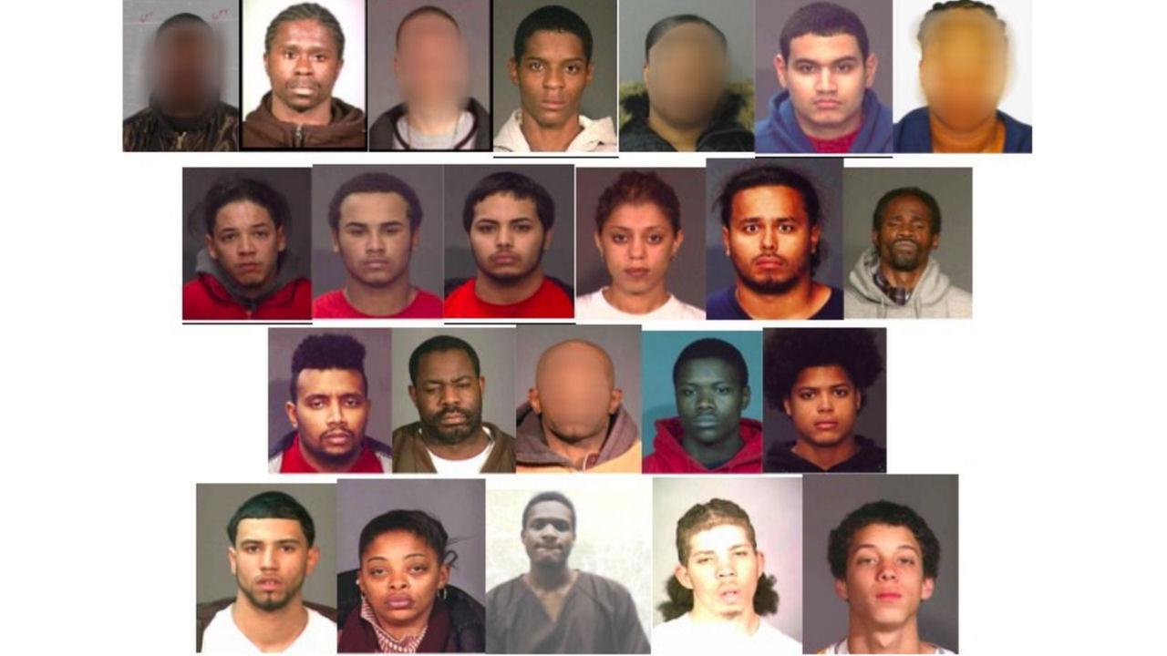 Several Bronx gang members were arrested, including alleged gang leader Cesar Ces Rivera.