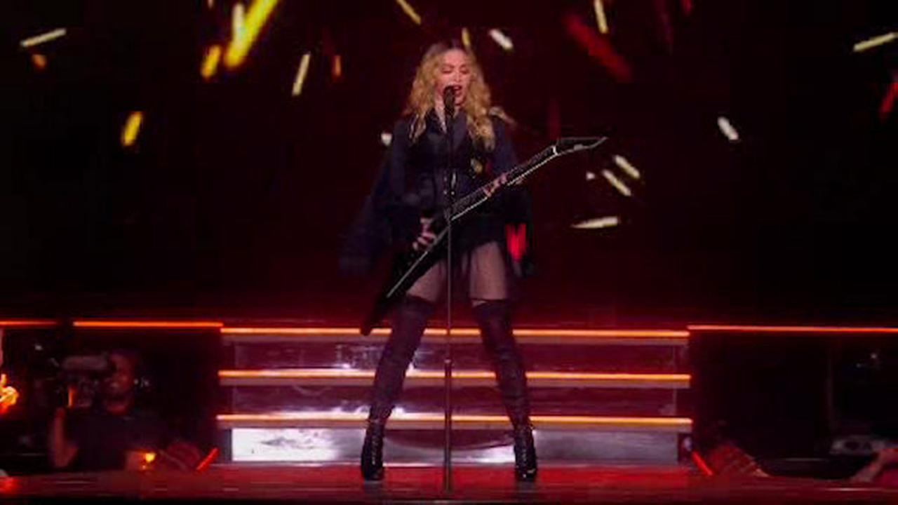 Madonna Performs At Madison Square Garden In New York City