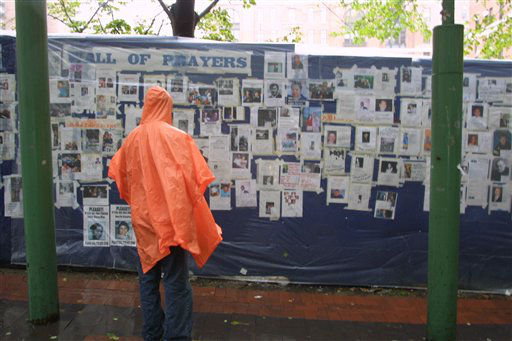 "<div class=""meta image-caption""><div class=""origin-logo origin-image none""><span>none</span></div><span class=""caption-text"">A woman looks at missing person posters of victims of the September 11 terrorist attacks on the World Trade Center in New York City on Sept. 14, 2001. (AP Photo/ Robert Spencer)</span></div>"