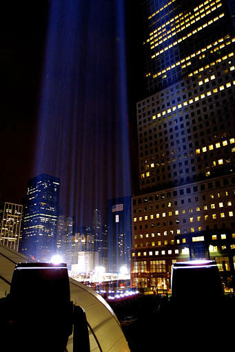 "<div class=""meta image-caption""><div class=""origin-logo origin-image none""><span>none</span></div><span class=""caption-text"">The Tribute in Light, a temporary memorial to those lost on 9/11, is lit for the last time on Saturday, April 13, 2002. It was on continuously for six months after the attack. (AP Photo/ JOHN-MARSHALL MANTEL)</span></div>"