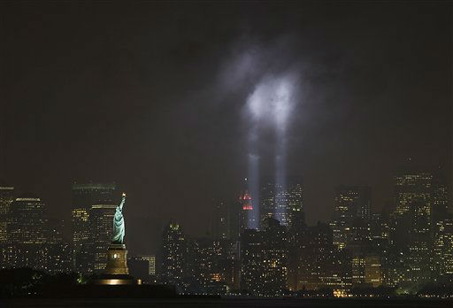 "<div class=""meta image-caption""><div class=""origin-logo origin-image none""><span>none</span></div><span class=""caption-text"">The ""Tribute in Light"" marks the  September 11 Anniversary in New York taken from Bayonne, N.J. on Tuesday, Sept. 11, 2007. (AP Photo/ Tim Larsen)</span></div>"