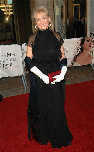Barbara Walters arrives at the Metropolitan Opera 2007-08 season opening gala Monday, Sept. 24, 2007 in New York. <span class=meta></span>