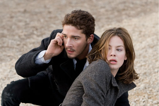 <div class='meta'><div class='origin-logo' data-origin='none'></div><span class='caption-text' data-credit='AP Photo/ Ralph Nelson'>Shia LaBeouf and Michelle Monaghan star as two Americans in a mysterious conspiracy in &#34;Eagle Eye.&#34;</span></div>