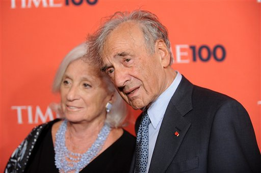 <div class='meta'><div class='origin-logo' data-origin='AP'></div><span class='caption-text' data-credit='(AP Photo/Evan Agostini)'>Elie Wiesel, right, and guest attend the TIME 100 gala.</span></div>