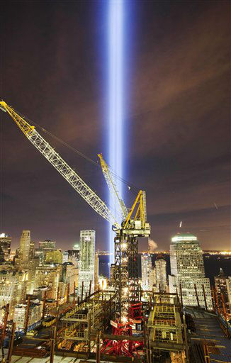 "<div class=""meta image-caption""><div class=""origin-logo origin-image none""><span>none</span></div><span class=""caption-text"">The Tribute in Light rises above the construction cranes on One World Trade Center, and the lower New York skyline, Saturday, Sept. 11, 2010. (AP Photo/ Mark Lennihan)</span></div>"