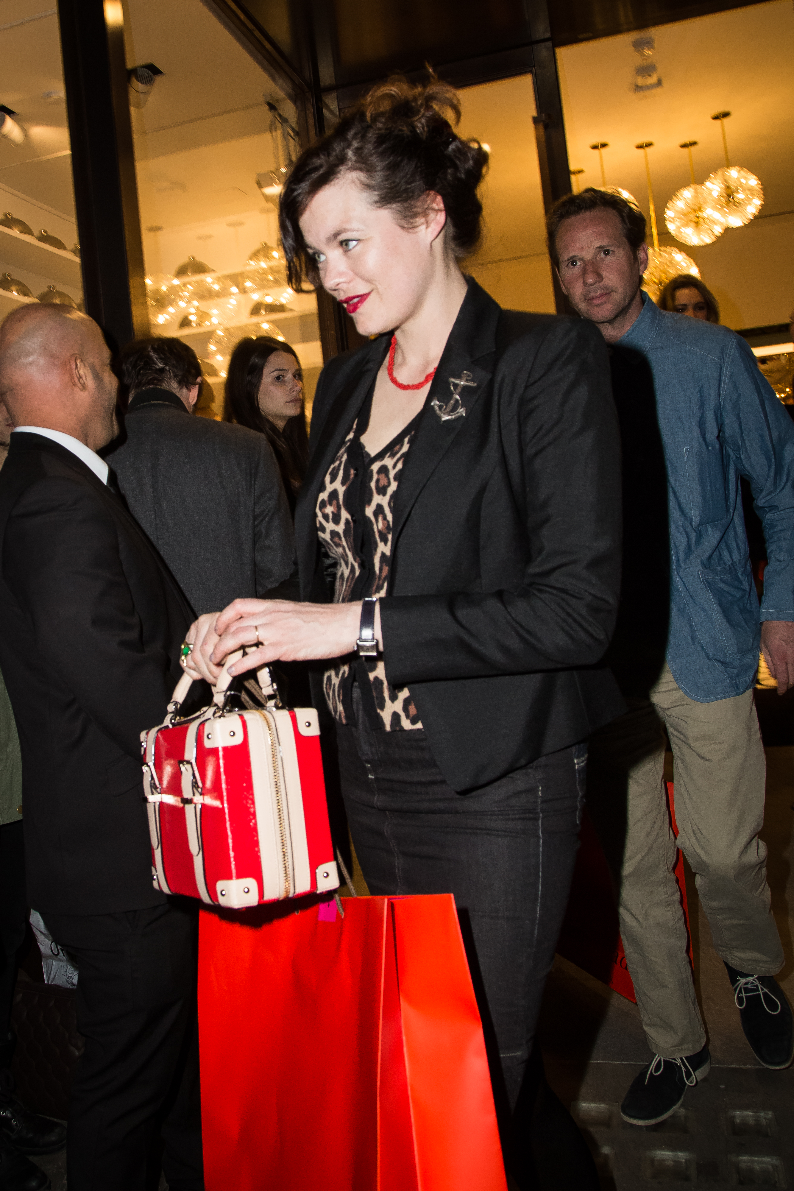 <div class='meta'><div class='origin-logo' data-origin='AP'></div><span class='caption-text' data-credit='Vianney Le Caer/Invision/AP'>Jasmine Guinness leaves the Kate Spade New York flagship store opening party in London, Thursday, April 21, 2016. (Photo by Vianney Le Caer/Invision/AP)</span></div>