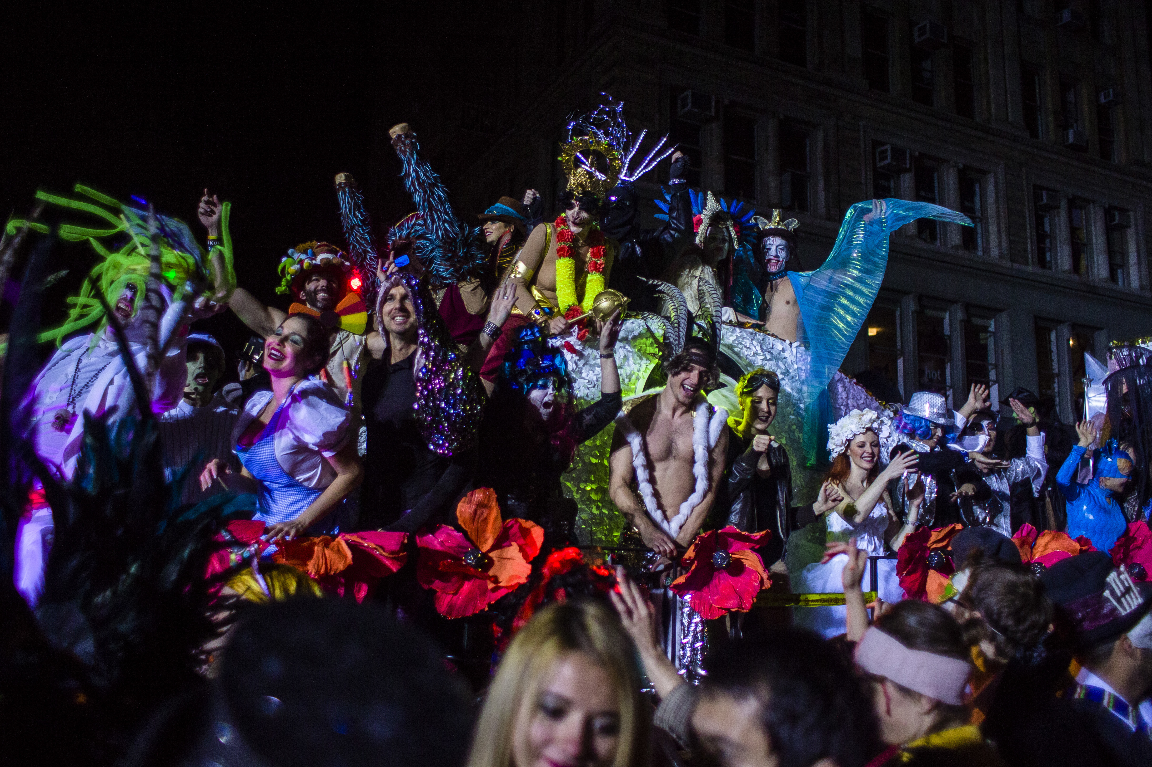 """<div class=""""meta image-caption""""><div class=""""origin-logo origin-image none""""><span>none</span></div><span class=""""caption-text"""">Revelers march during the Greenwich Village Halloween Parade in New York, Monday, Oct. 31, 2016. (AP Photo/Andres Kudacki)</span></div>"""