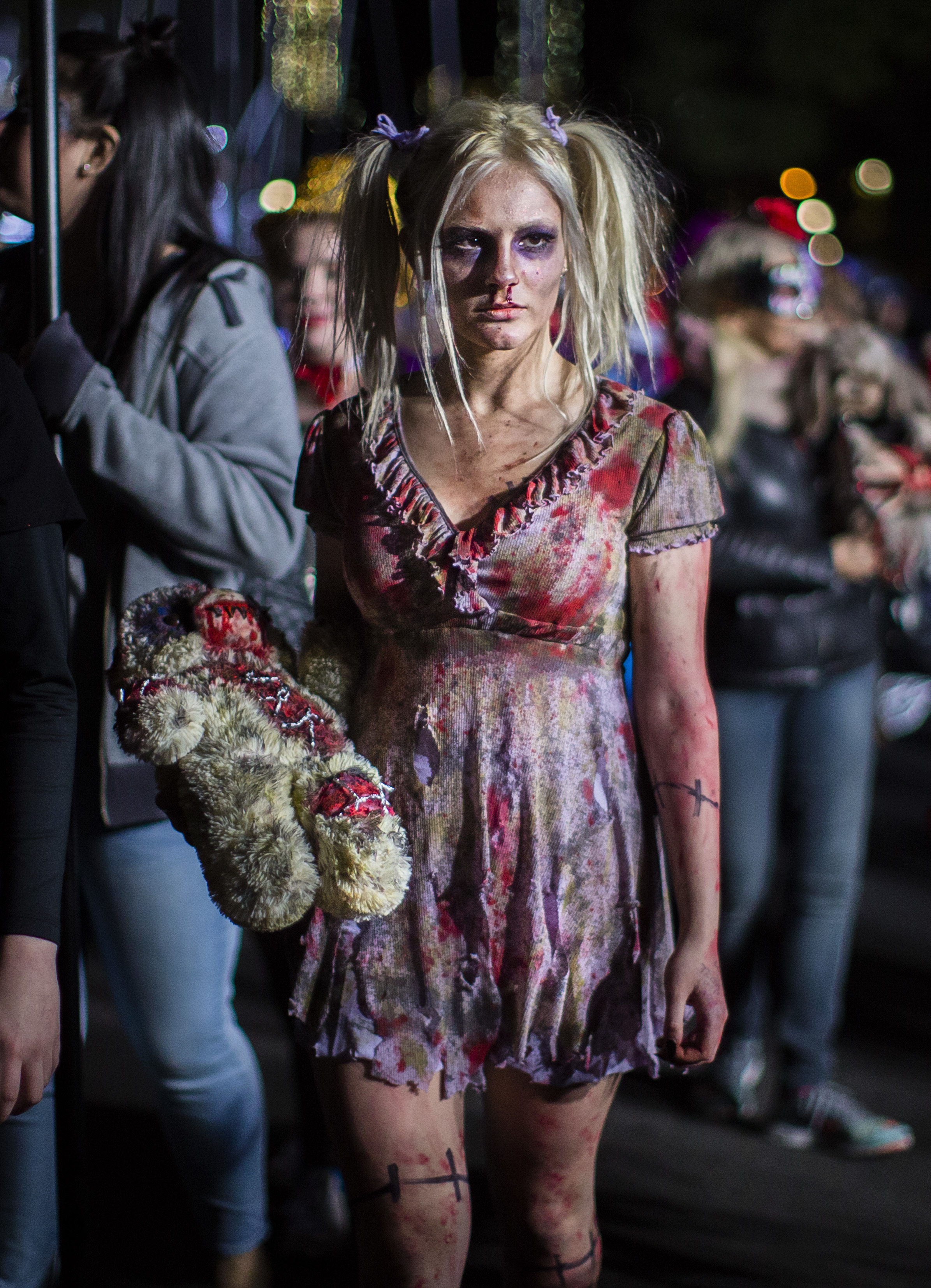"""<div class=""""meta image-caption""""><div class=""""origin-logo origin-image none""""><span>none</span></div><span class=""""caption-text"""">A reveler marches during the Greenwich Village Halloween Parade in New York, Monday, Oct. 31, 2016. (AP Photo/Andres Kudacki)</span></div>"""