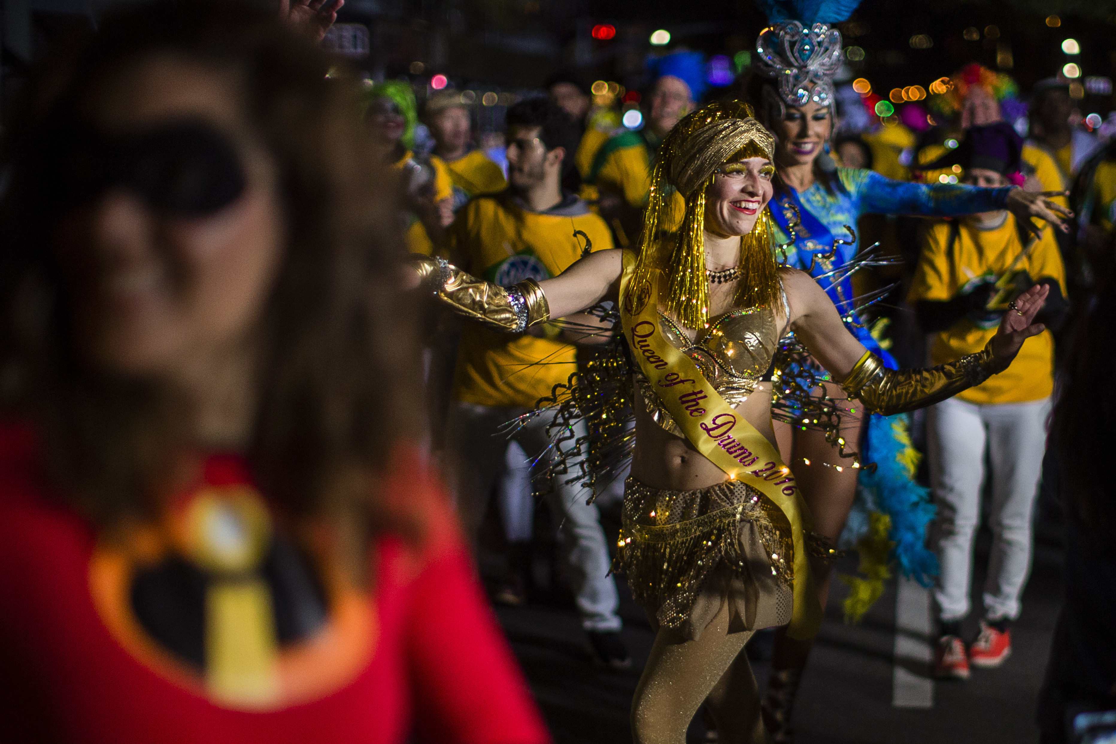 """<div class=""""meta image-caption""""><div class=""""origin-logo origin-image none""""><span>none</span></div><span class=""""caption-text"""">Revelers dance during the Greenwich Village Halloween Parade in New York, Monday, Oct. 31, 2016. (AP Photo/Andres Kudacki)</span></div>"""