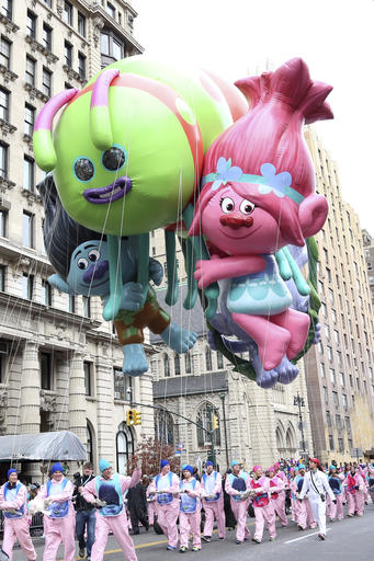 "<div class=""meta image-caption""><div class=""origin-logo origin-image none""><span>none</span></div><span class=""caption-text"">The Trolls balloon floats in the 90th Annual Macy's Thanksgiving Day Parade on Thursday, Nov. 24, 2016, in New York. (Greg Allen/Invision/AP)</span></div>"