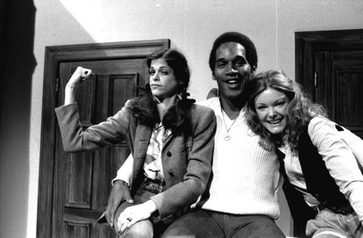 <div class='meta'><div class='origin-logo' data-origin='none'></div><span class='caption-text' data-credit='AP Photo, file'>O.J. Simpson with actresses Gilda Radner, left, and Jane Curtin as he appeared on NBC's Saturday Night Live in 1978. After his retirement from football, Simpson began acting.</span></div>