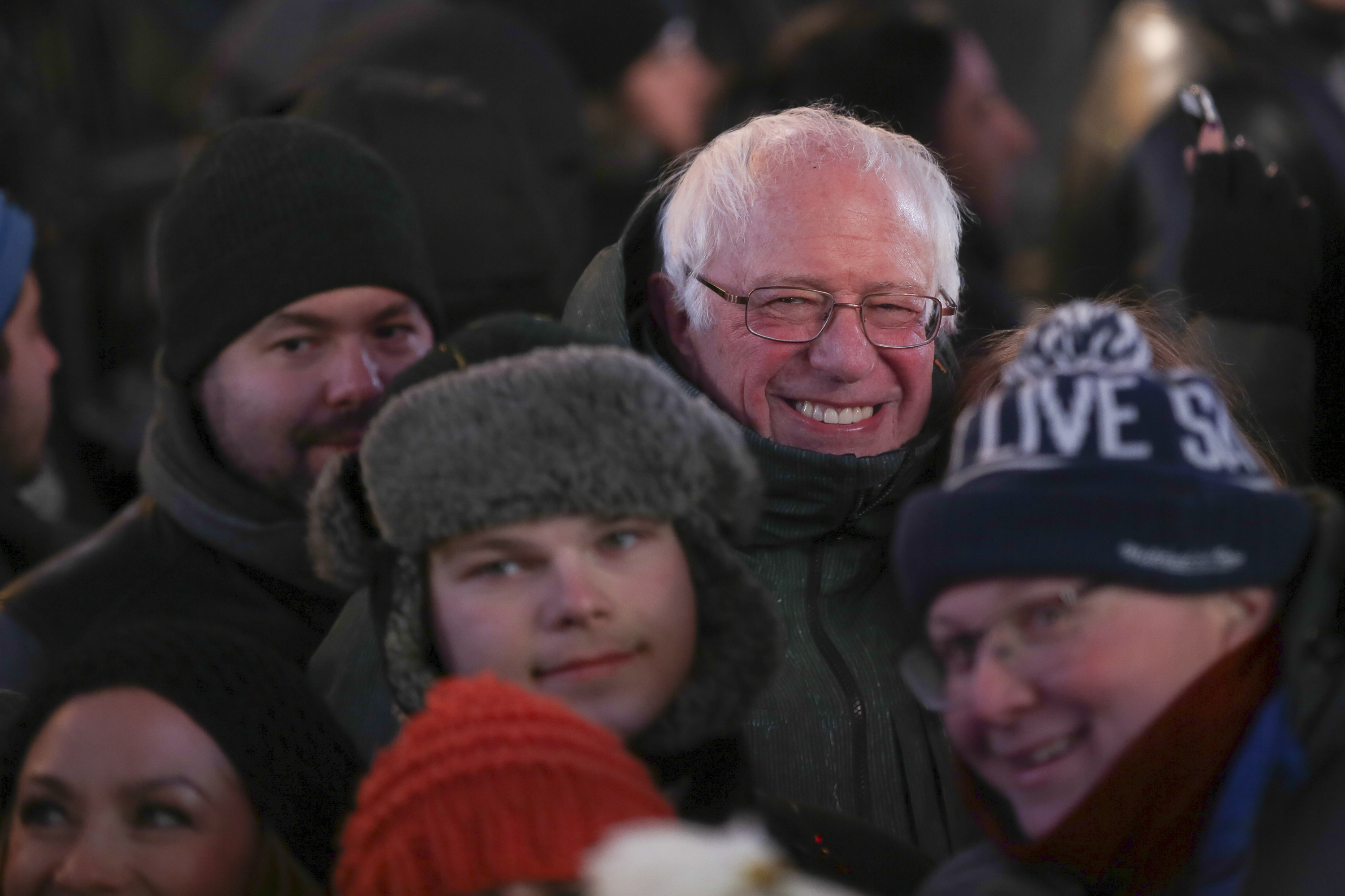 <div class='meta'><div class='origin-logo' data-origin='AP'></div><span class='caption-text' data-credit='Brent N. Clarke/Invision/AP'>Senator Bernie Sanders attends the New Year's Eve celebration in Times Square on Sunday, Dec. 31, 2017, in New York. (Photo by Brent N. Clarke/Invision/AP)</span></div>