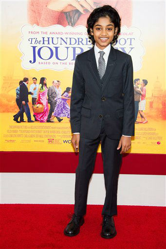"Rohan Chand attends ""The Hundred-Foot Journey"" premiere on Monday, August 4, 2014 in New York. (Photo by Charles Sykes/Invision/AP)"