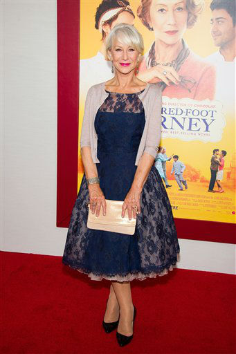 "<div class=""meta image-caption""><div class=""origin-logo origin-image ""><span></span></div><span class=""caption-text"">Helen Mirren attends ""The Hundred-Foot Journey"" premiere on Monday, August 4, 2014 in New York. (Photo by Charles Sykes/Invision/AP)</span></div>"