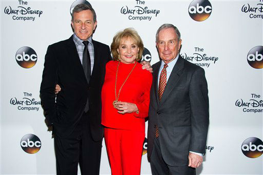 Bob Iger, from left, Barbara Walters and Michael Bloomberg attend A Celebration of Barbara Walters at the Four Seasons Restaurant on Wednesday, May 14, 2014 in New York. <span class=meta></span>