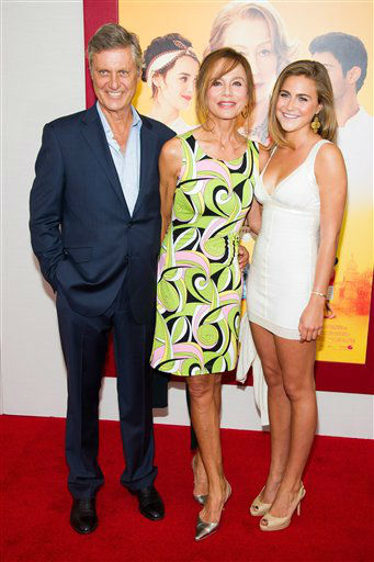 "Director Lasse Hallstrom, left, Lena Olin and daughter Tora Hallstrom attend ""The Hundred-Foot Journey"" premiere on Monday, August 4, 2014 in New York."