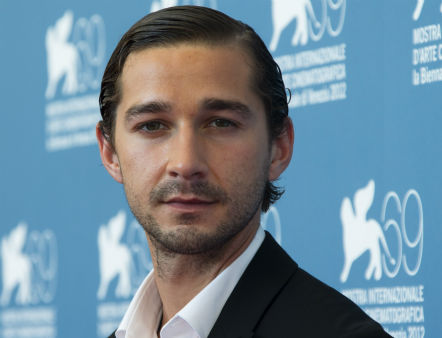 <div class='meta'><div class='origin-logo' data-origin='none'></div><span class='caption-text' data-credit='AP Photo/ Joel Ryan'>On Sept. 6, 2012, actor Shia LaBeouf poses at the 69th edition of the Venice Film Festival in Venice, Italy.</span></div>