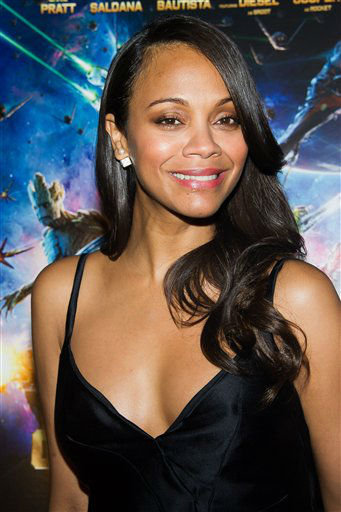 """<div class=""""meta image-caption""""><div class=""""origin-logo origin-image """"><span></span></div><span class=""""caption-text"""">Zoe Saldana attends a screening of """"Guardians of the Galaxy"""" in New York (Charles Sykes/Invision/AP)</span></div>"""